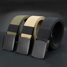 Fashion Men's Outdoor Sports Military Tactical Nylon Waistband Canvas Web Belt