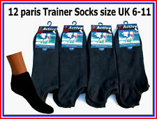 12 pairs MENS TRAINER SPORTS SOCKS COTTON & LYCRA  6-11