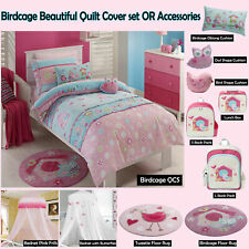 BIRDCAGE Owl Quilt Duvet Cover Set SINGLE DOUBLE QUEEN OR Accessories