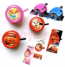 CHILDRENS BIKE BELL KIDS BICYCLE DISNEY PRINCESS CARS MINNIE MOUSE BOYS GIRLS