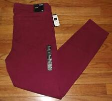 NEW NWT Womens GAP 1969 Legging Mid Rise Garnet Colored Denim Stretch Jeans *E6
