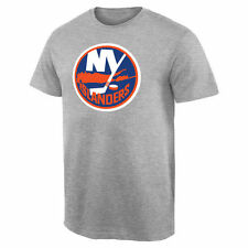 New York Islanders Team Primary Logo T-Shirt - Ash - NHL