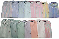 Polo Ralph Lauren Long Sleeve Button Mens Oxford Classic Fit Striped Dress Shirt