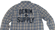 Polo Ralph Lauren Denim & Supply Logo Mens Blue Flannel Slim Button Down Shirt