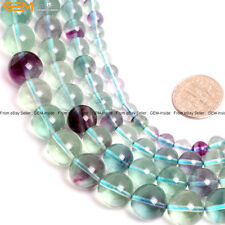 "A Grade Natural Stone Fluorite Gemstone Beads For Jewelry Making 15"" Multicolor"