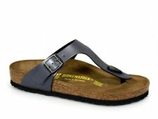 Birkenstock GIZEH Ladies Toe Post Summer Beach Buckle Sandals Onyx Grey Pearl