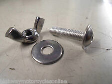 M5 5MM A2 STAINLESS STEEL DOME FLANGE HEAD  ALLEN BOLT + WING  NUT + WASHER