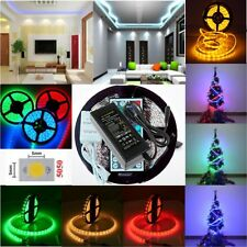 5M 5050 SMD 300leds LED Strip Light DC12V Power Supply For Xmas Party Home Decor
