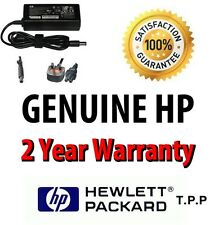 GENUINE HP Probook Laptop Notebook AC Adaptor/Charger + UK Mains Lead