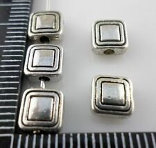 30/60/500pcs Tibetan silver Flat rectangle Spacer Beads 3x6.5mm  (Lead-free)