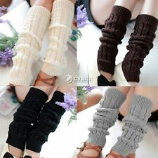 Women Knee High Legs Warmers winter Boot Socks Knit Crochet Stockings Leggings