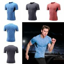 Mens Compression Skin Under Base Layer Top Tight Short Sleeve Jersey T-Shirts