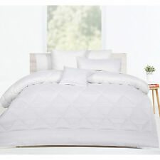 6 Pieces White Jacquard Waffle Comforter Set by Accessorize - QUEEN KING