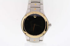 Men's Movado 0605910 SPORTS EDITION SE Two-Tone Stainless Steel Black Dial Watch