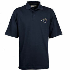 Mens Cutter & Buck Navy Blue Los Angeles Rams Championship Polo - NFL