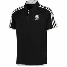 Men's adidas Black/White 2016 Ryder Cup 3-Stripe climachill Compeition Polo