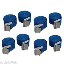 PACK OF 8 BLUE CAM BUCKLE TIE DOWN STRAPS ROOF RACKS TRAILERS 25 X 2500 MM LONG