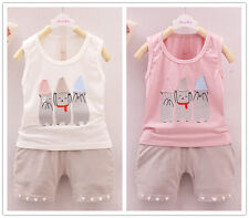 2pcs/set  baby kids Boys Sleeveless tops & shorts Boys Summer Clothes suits