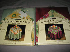 "Colorful Fabric Tablecloth Floral Topper Set Round 70"" Entertain Party NEW!"