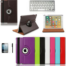 360 Rotating Smart PU Leather Stand Case Cover w/ keyboard For iPad Pro 9.7''