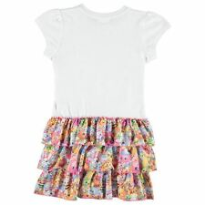 Character Kids Frill Dress Infant Girls Short Sleeve Crew Neck Print Summer Top