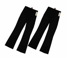 LADIES PACK OF 2 BOOTLEG STRETCH TROUSERS BLACK SIZE 14