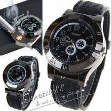 Men USB Electronic Rechargeable Battery Flameless Cigarette Lighter Wristwatches