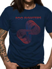 Foo Fighters T Shirt Sonic Highways Loops Official Blue Mens Tee NEW Unisex