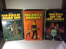 three vintage sphere star wars han solo paperback books