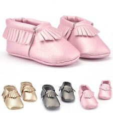 Newborn Baby Boys Girl Toddler Soft Sole Infant Kid Camo Moccasins Tassel Shoes.