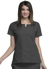 Pewter Cherokee Workwear Round Neck Scrub Top 4824 PWTW