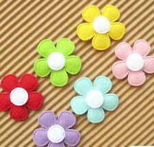 "US SELLER - 60 pc x 1"" Padded Felt Spring Flower Appliques for Cards/Bows ST524M"
