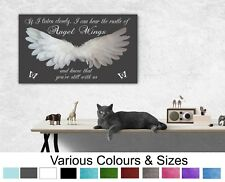 Angel Wings Wall Decor Picture 'IF I Listen Closely..Quote Canvas or Poster