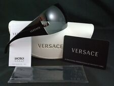 VERSACE SUNGLASSES VE 2054 1001/87 100187 BLACK GUNMETAL GRAY AUTHENTIC NEW