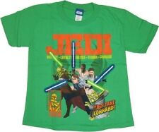 New Authentic Boys Star Wars Clone Wars Jedi Tee Shirt Boys Size 4 Glow in Dark