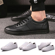 New Trend Korean Mens Flat Breathable Sneakers Casual Lace Up Fashion Shoes