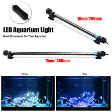 Submersible Underwater Blue&White 12/24LED Aquarium Light Fish Tank Lamp Decor
