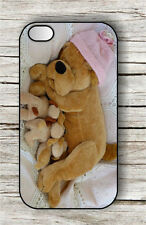 DOG TOY PLUSH MOTHER AND PUPPIES CASE FOR iPHONE 4 , 5 , 5c , 6 -jht5Z