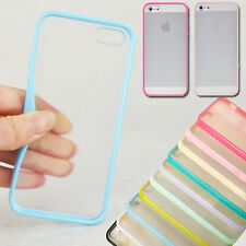TPU Bumper Frame With Matte Hard Back Skin Case Cover for Apple iPhone 4/4S/5/5S