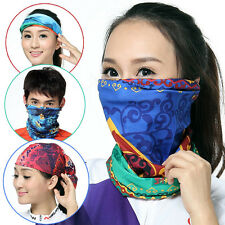 Multi Style Bandana Tube Face Mask Neck Gaiter Snood Beanie Headwear Head Scarf