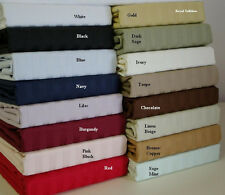 Egyptian Cotton Blend Wrinkle Free Sheets 650 Thread Count Striped Sheet Set