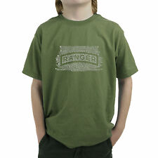 Boy's T-shirt - The US Ranger Creed Created using The Ranger Creed