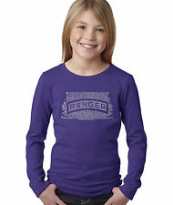 Girl's Long Sleeve T-Shirt - The US Ranger Creed Created using The Ranger Creed