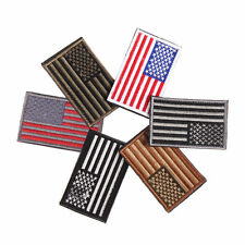 American Flag Embroidered Iron-On Patch United States Military Uniform Emblem
