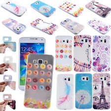 For Samsung Galaxy Fashion Rubber Soft Phone Cover Case Pattern Back Slim Skin