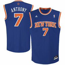 Mens New York Knicks Carmelo Anthony adidas Royal Blue Replica Road Jersey - NBA