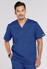 Galaxy Cherokee Workwear Core Stretch Men's V Neck Scrub Top 4743 GABW