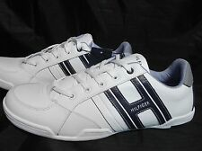 TOMMY HILFIGER AM NEAL MENS WHITE MULTI  LACE UP LEATHER SHOES NEW WITH TAG
