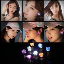 1Pair Women Men Fashion Jewelry Light Up Crown Crystal Drop LED Stud Earring NEW