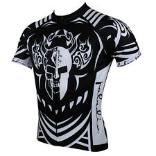 Men Skull Short Sleeve Cycling Jersey Bike Bicycle Sportwear Rider Clothing D077